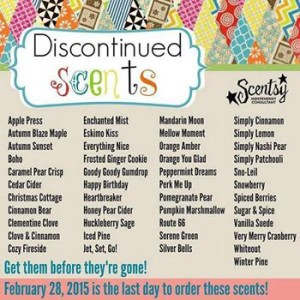 discontinued scentsy bars 2015