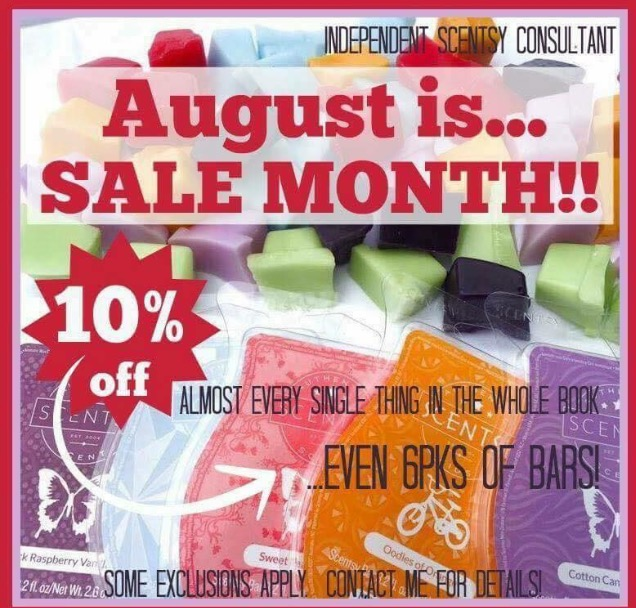 82d4d9bf1ffa9 10% Off almost everything in August! | Dreams Unlimited | Scentsy