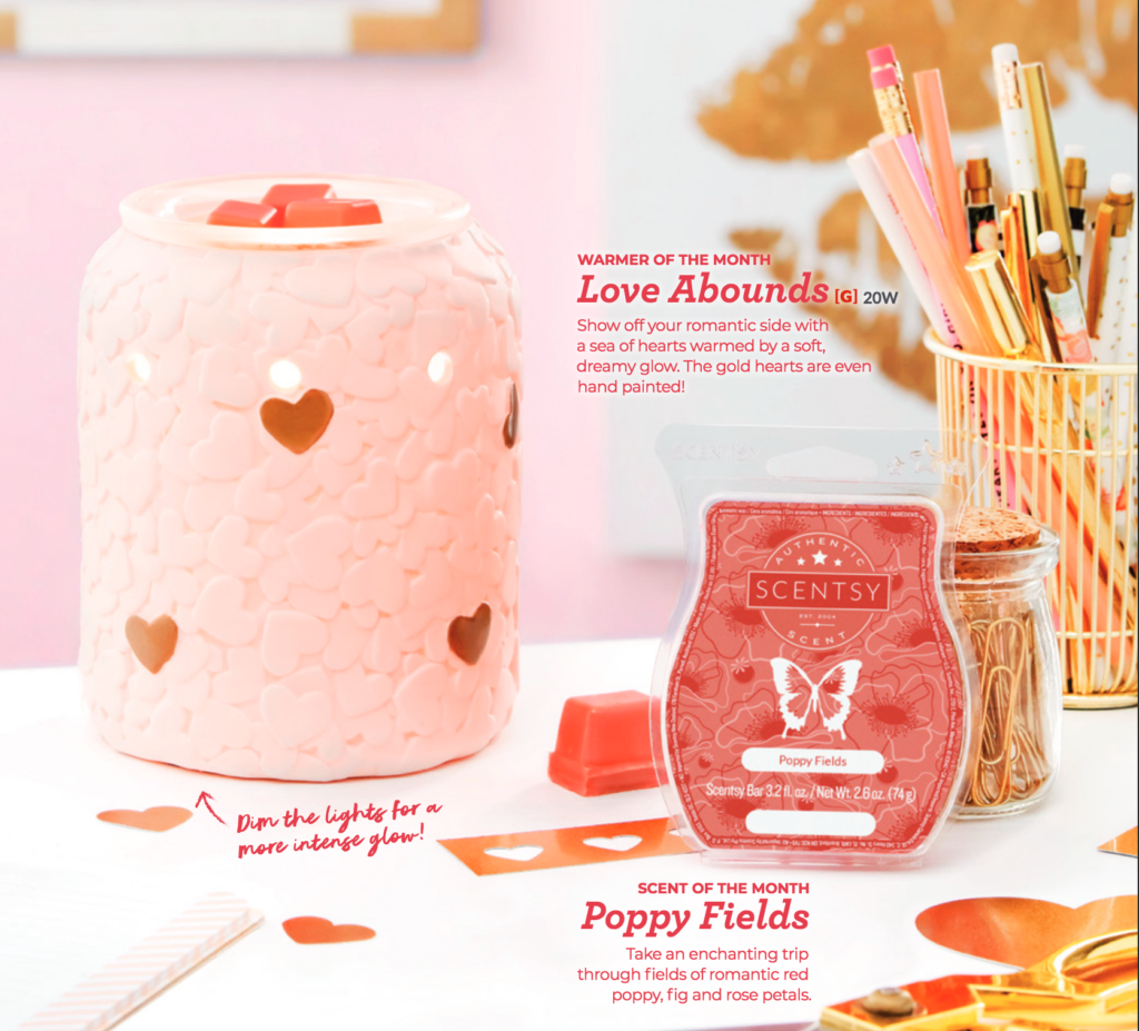 Scentsy Warmer and Scent of the Month for February
